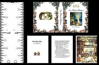 1:24 SCALE MINIATURE BOOK THE HIGH HILLS BRAMBLY HEDGE