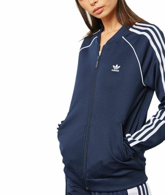 91f0c88c adidas Originals Womens Adicolor Navy SST Tracksuit Track Top Jacket DH3133