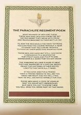 The Parachute Regiment Poem Special Forces British Army Military Para Airborne