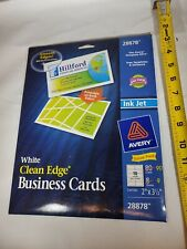 Avery White Clean Edges Business Cards 28878
