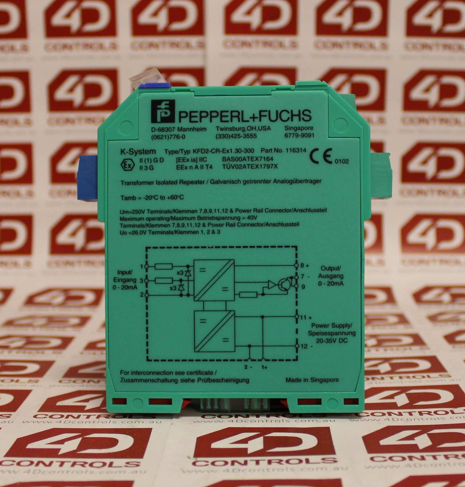 71842 PEPPERL FUCHS TRANSFORMER ISOLATED REPEATER KFD2-CR-Ex1.30-300