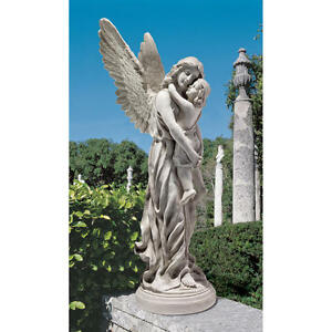 Heaven-039-s-Guardian-Angel-Antique-Stone-Finish-Design-Toscano-38-034-Garden-Statue