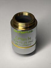 Olympus Cplan N 10x 025na Phc Fn22 Phase Microscope Objective