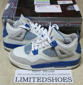 e4f861f811ac NIKE AIR JORDAN 4 IV RETRO GS MILITARY BLUE 308498-141 US 7Y toro ...
