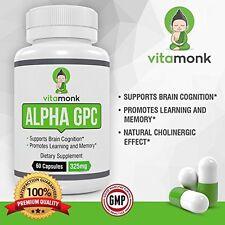 Alpha GPC 325 mg 60 Veg Capsules Brain Function Memory Health Supplement *SEALED