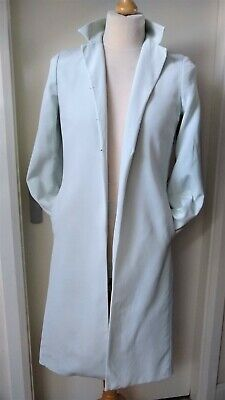 Austin Reed 100 Silk Duster Coat Ladies Womens Size 12 Pale Aqua Lovely Ebay