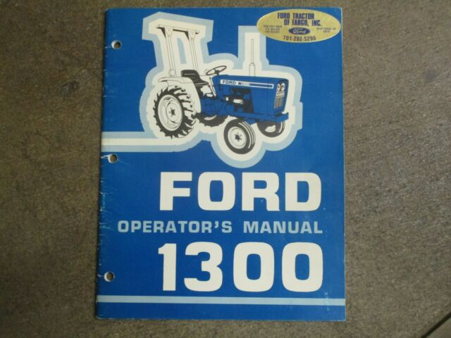 Ford 1300 Tractor Owners  U0026 Maintenance Manual