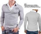 Maglia da Uomo Slim Fit Maglietta Aderente T-Shirt a Maniche Lunghe Moda Casual