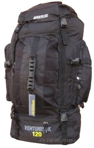 Voyage camping randonnée voyage sac à dos sac à dos festival noir large 120L
