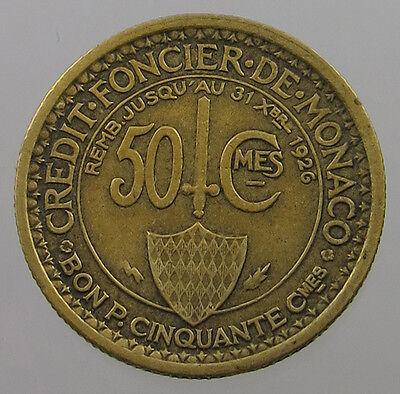 MONACO 50 CENTIMES 1926 #lx 535