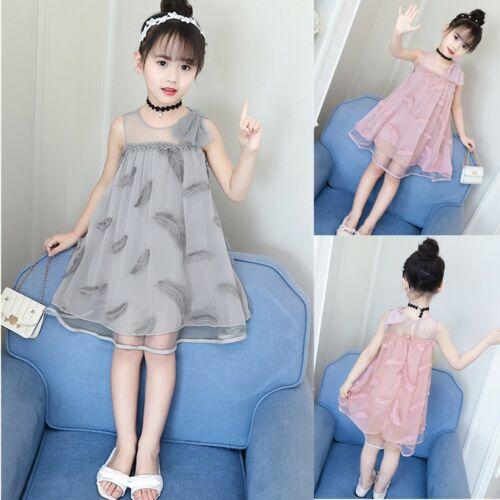 Neue Chiffon Sommerkleid Kleider Mädchen Abendkleid Formal  Partykleid Ballkleid