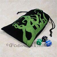 Fantasy Flight Tentacles Dice Bag Ffs40 Black Velour Rpg Gaming Supply Game
