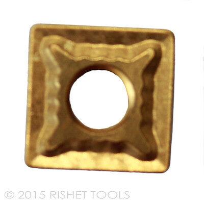 RISHET TOOLS TPMA 43NV C5 Multi Layer TiN Coated Carbide Inserts 10 PCS