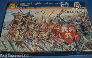 ITALERI-6027-HYW-ENGLISH-KNIGHTS-amp-ARCHERS-1-72-SCALE-MEDIEVAL
