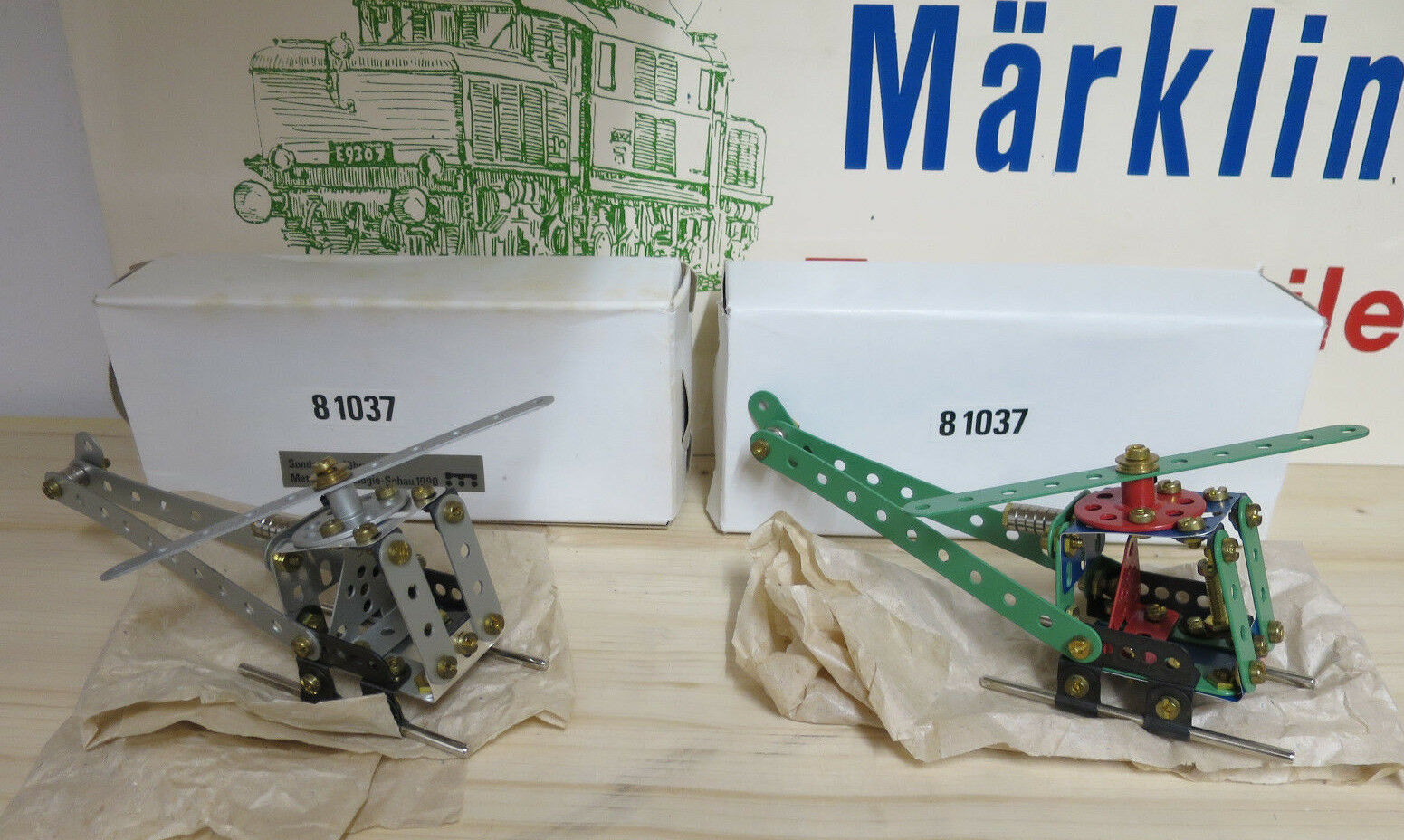(MB) MÄRKLIN 81037  STANDART & SET AUS METALL TECHOLOGIE SET 1990  1000 St NEU