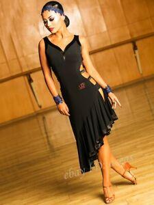 Women Latin Dance Dress Rumba Samba Cha Cha Paso Double Competition Ballroom NEW