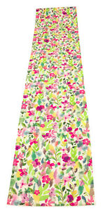 Water Color Pastel Floral Table Runner 15x72 inches