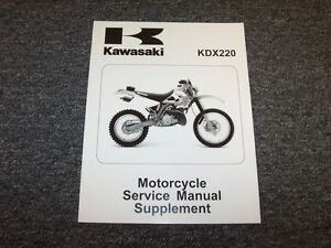 1997 1998 1999 2000 2001 kawasaki kdx220 motorcycle service manual rh ebay com 2001 kawasaki kdx 220 service manual KDX 220 2009