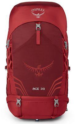Soleggiato Osprey Ace 38 Zaino Backpack Zaino Trekking Zaino Paprika Red Rosso-ck Paprika Red Rot It-it Eccellente Nell'Effetto Cuscino
