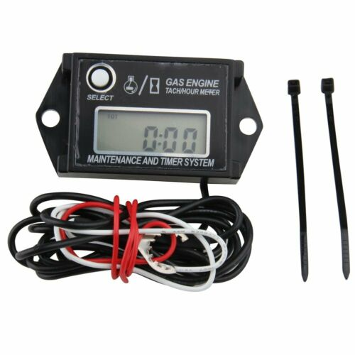 Tiny Tach Digital Hour Meter//Tachometer Adjustable Resettable Job Timer Briggs