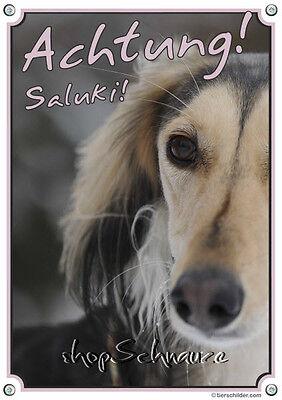 AnpassungsfäHig Saluki - Warnschild - Persischer Windhund - Hundeschild - Top Tipp Der Preis Bleibt Stabil