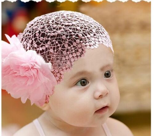 Toddler Baby Flower Lace Headband Hairband Hair Bow Headwear UK SELLER