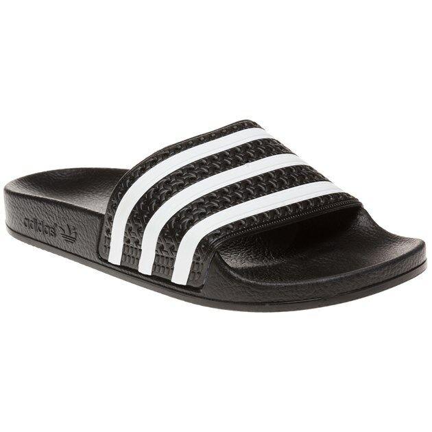0025a1b2bad5 adidas Adilette Bath Sandals Black White 280647 Slip-ons Sandal Shoes UK 11