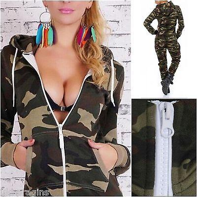 NEW MENS WOMENS ARMY MILITARY ONESIE PYJAMAS CAMOUFLAGE PRINT JUMPSUIT SLEEPWEAR
