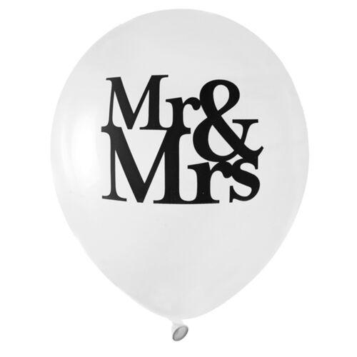 SALE Latex-Luftballons Ø 23 cm Mr /& Mrs 8 Stk Motivballons Heliumgas Hochzeit