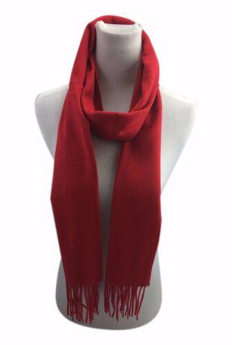 Women Men 100/% Wool Large Warm Winter Scarf Shawl Wrap with Tassels 200x30 cm