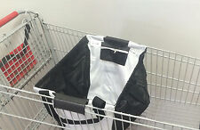 Large Shopping Cart bag, Foldable Grocery Bag. Laundry Tote Purple New
