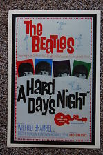 BEATLES A HARD DAYS NIGHT #2 Lobby Card Movie Poster
