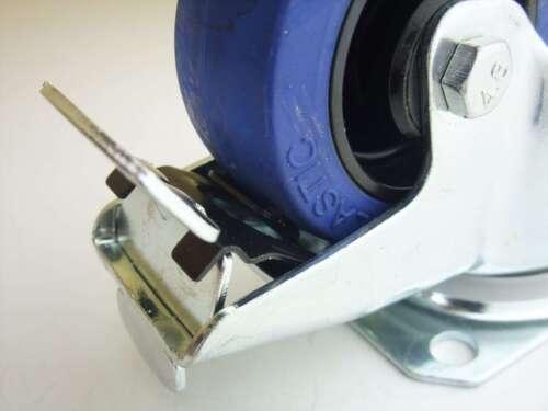 1 Set 80 mm SL Möbel Rollen Transportrollen Schwerlastrollen Lenkrollen 2 Bremse