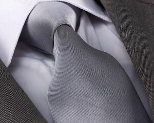 Gris-Colombe-Fine-Rib-Cravate-en-soie-Design-Italien-Milano-Exclusive