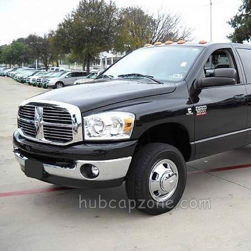 "2015-2016 Dodge Ram Truck 3500 Front Pair 17/"" Hub caps Wheel Simulators /& Center"