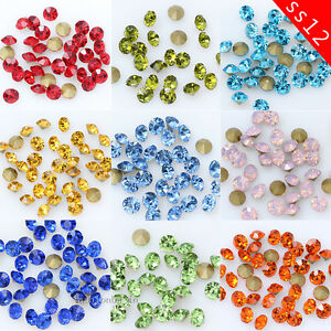 Cheap Price Clear White Ss12 Point Back Rhinestones Gems Glass Chatons Strass Nail Art Craft Gems Ebay Motors