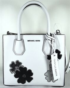 a262d4d78 Image is loading Michael-Michael-Kors-Flowers-Mercer-Medium-White-Leather-