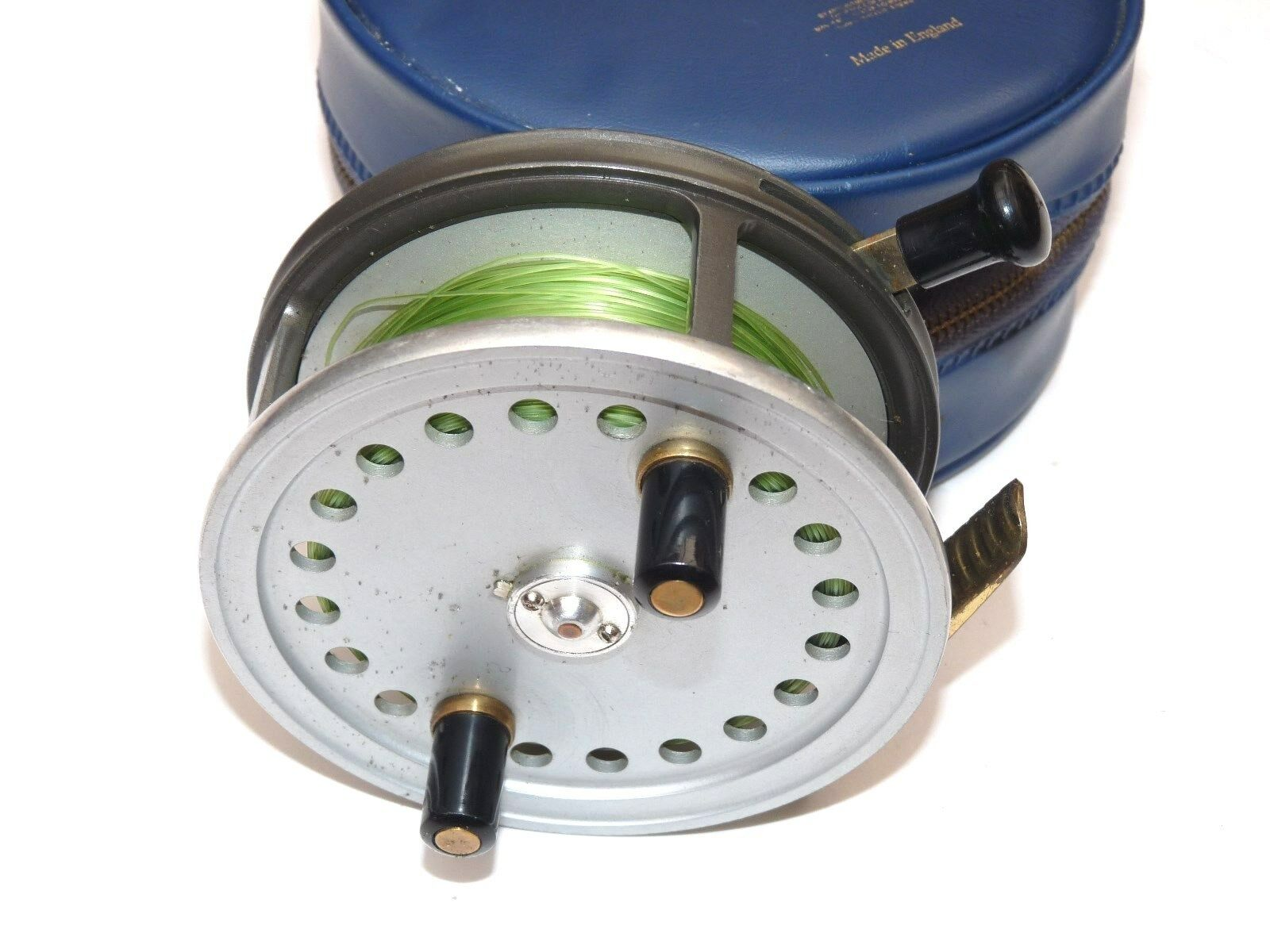 Vintage Hardy The Silex fishing reel & case Beste collector  finish & case  stadium giveaways