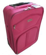 Rose VALISE femme / fille ROUES CABINE AVION ROULETTE TROLLEY SAC VOYAGE NEUF 46