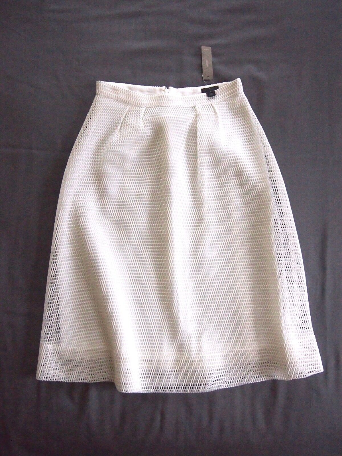 J. Crew Collection White Fully Lined Net A-Line Skirt - 4 - NEW with Tags