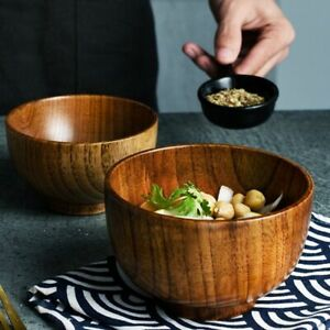 Japanese-Style-Wooden-Bowl-Wood-Rice-Soup-Bowl-Salad-Bowl-Food-Container-Large