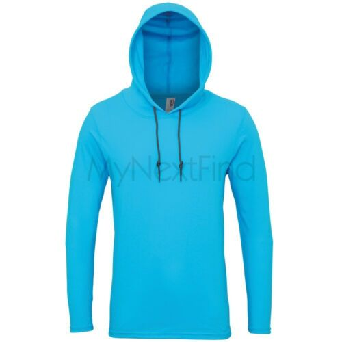 Anvil Adult Fashion Basic Long Sleeve Hooded T-Shirt