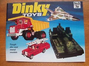 DINKY-TOYS-COLLECTOR-039-S-CATALOGUE-No-9-Number-Nine-FOR-1973-NM-NEAR-MINT
