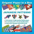 Origami Paper in a Box - Japanese Patterns: 192 Sheets of 6 X 6  Folding Paper & 32-Page Book (Tuttle Origami Paper) by Periplus Editions (Hardback, 2016)