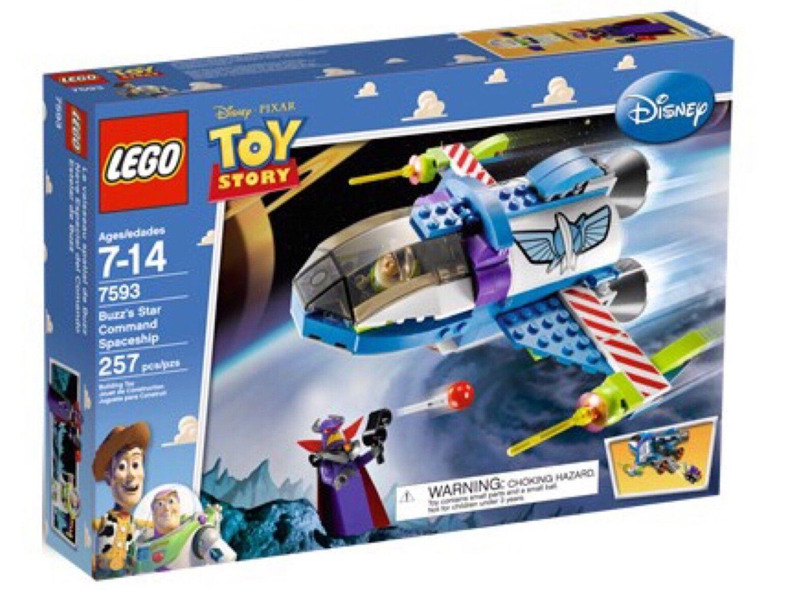 Lego 7593 Toy Story-Buzz 's Star Command Spaceship-DGSIM NEUF non ouvert