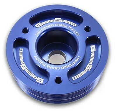 Grimmspeed Blue Lightweight Crank Pulley For Subaru ALL EJ25 & EJ20 | 095015B