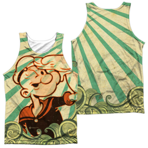 Popeye Classic Comic TRAVELING MAN 2-Sided Sublimated Big Print Poly Tank Top