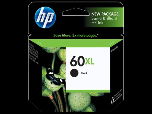 HP 60XL Black High Yield Ink Print Cartridge Original (CC641WN) - NEW ™