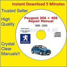 Peugeot 206 + 406 Workshop Service Repair Manual Engine Body Coupe