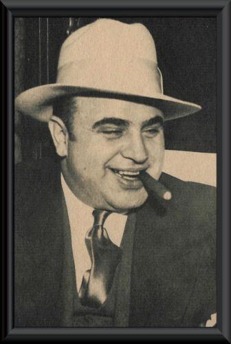 Al Capone Photo Reprint On 80 Year Old Paper Godfather Mafia Mob La Cosa Nostra